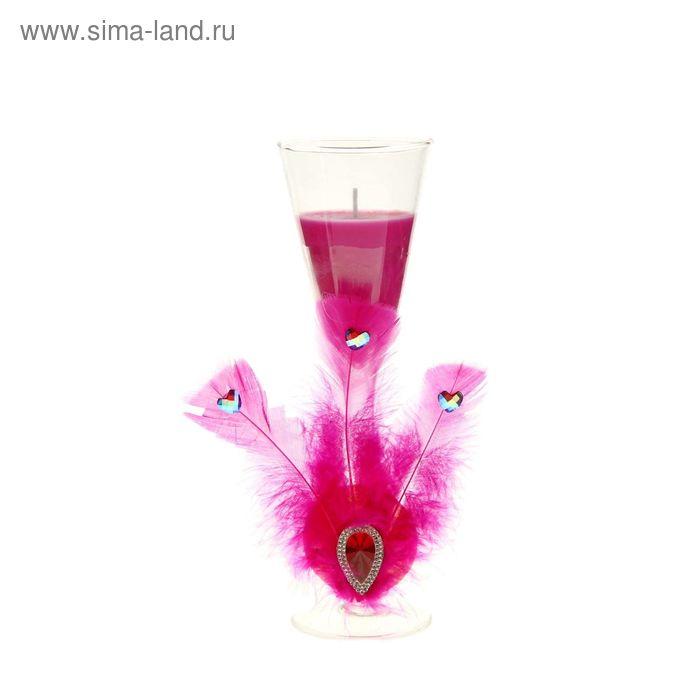 """Свеча восковая """"Перо"""", цвет розовый"""