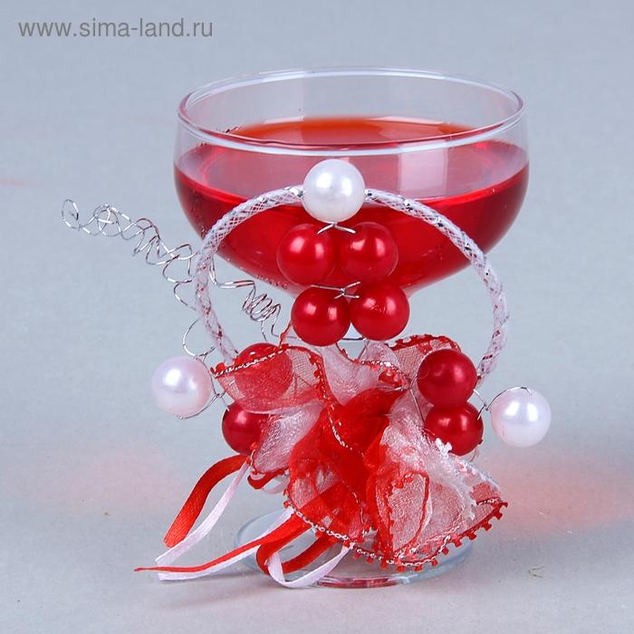 """Свеча гелевая """"Бусины"""", цвет красный"""
