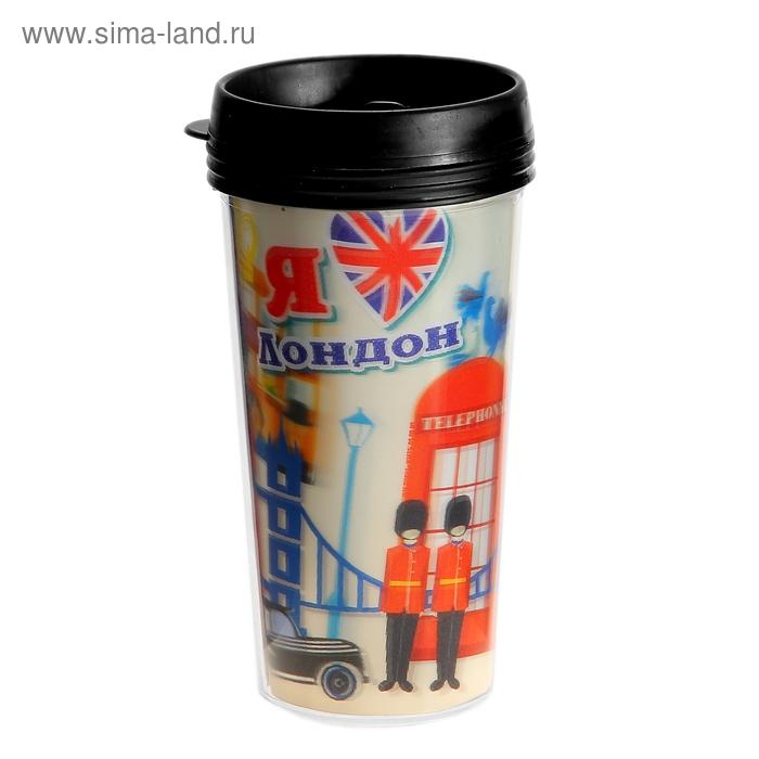 "Термокружка с 3D ""Я люблю Лондон"" 400 мл"