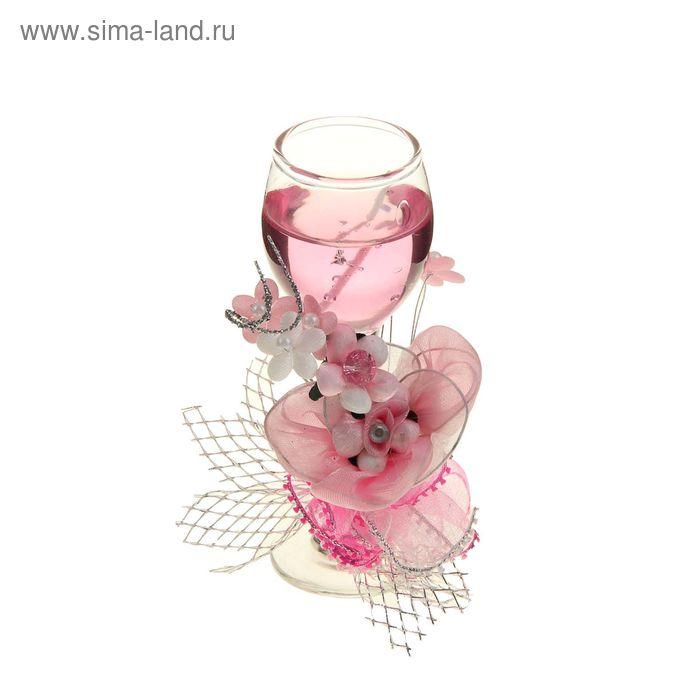 """Свеча гелевая """"Очарование"""", цвет розовый"""