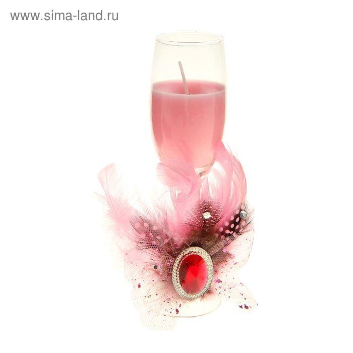 """Свеча восковая """"Истинный кураж"""", цвет розовый"""