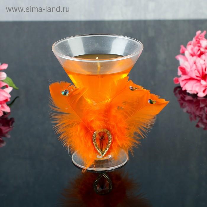 """Свеча гелевая """"Перо"""", цвет оранжевый"""