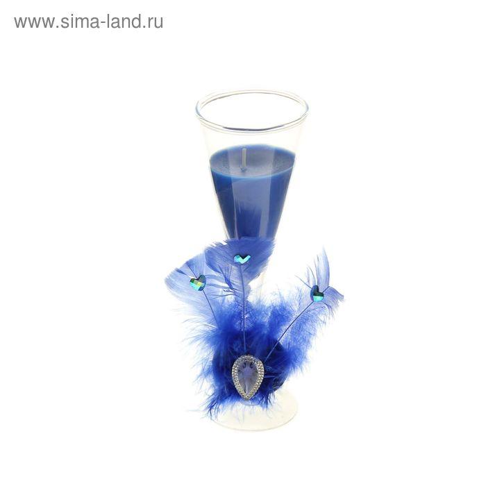 """Свеча восковая """"Перо"""", цвет голубой"""