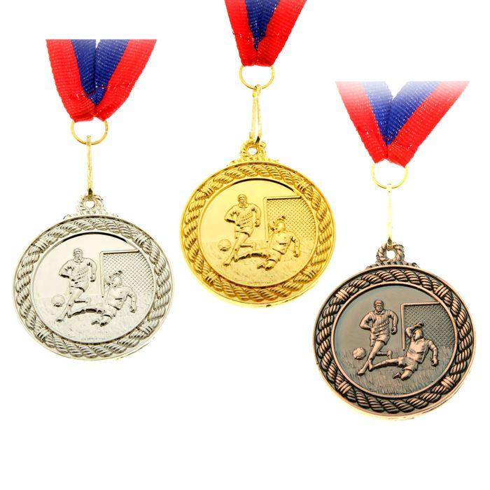 """Медаль тематическая """"Футбол"""" серебро"""