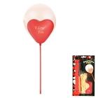 """Шар латексный 12"""" """"Двойное сердце"""", набор 16 шариков + 8 палочек - фото 131600529"""