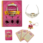 """Set in the book-box """"How to find Prince charming"""": keychain+tiara+set of cards"""