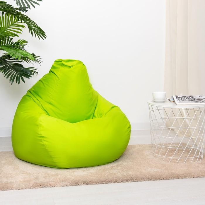 """Кресло-мешок """"Капля"""", М, d100/h140, цвет тёмно-салатовый"""