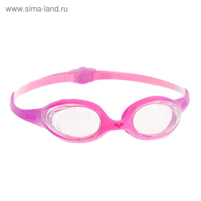Очки для плавания детские ARENA Spider Jr, прозрачные линзы, розово-сиреневая оправа