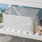 Корзина для хранения Альтернатива «Плетёнка», 35×29×17,5 см, цвет белый - фото 308326958
