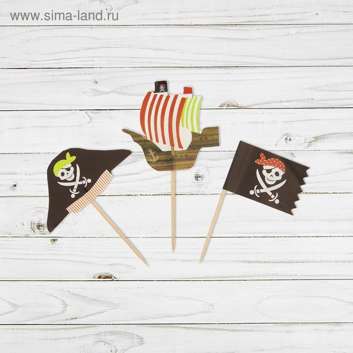"""Шпажки для канапе """"Пират"""" (набор 12 шт)"""