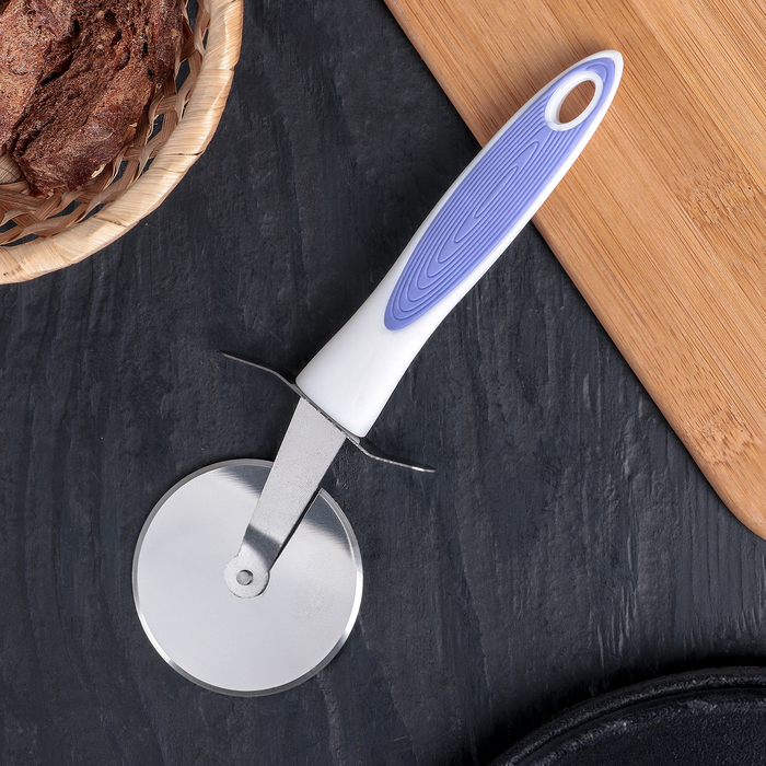 """Нож для пиццы и теста 21 см """"Style"""", ручка soft touch, цвет МИКС"""