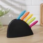 Набор кухонных ножейна подставке, 5 шт, лезвие 8,5 см, 11 см, 11,5 см, 12,5 см, цвет МИКС - фото 179964