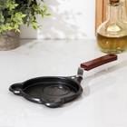 Сковорода Доляна «Мишка», d=14 см, антипригарное покрытие, цвет чёрный - фото 646909