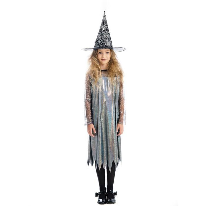 Карнавальный костюм «Ведьмочка», платье, шляпа, р. 30, рост 122 см