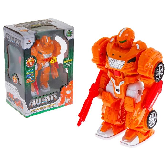 """Робот """"Разрушитель"""", работает от батареек, цвета МИКС"""