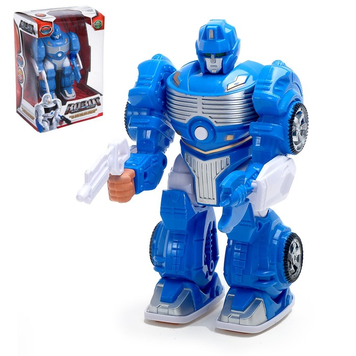"""Робот """"Захватчик"""", работает от батареек, цвета МИКС"""