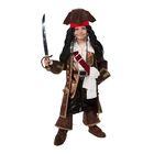 Детский карнавальный костюм «Капитан Джек Воробей», (бархат и парча), размер 34, рост 134 см