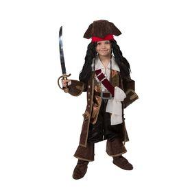 Детский карнавальный костюм «Капитан Джек Воробей», (бархат и парча), размер 30, рост 116 см