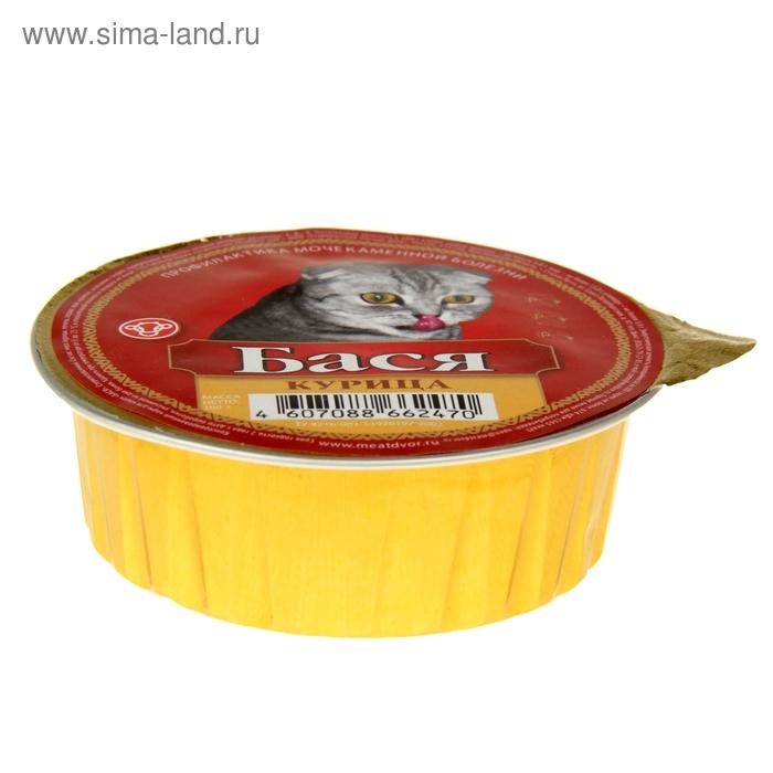 "Корм для кошек ""Бася"" курица, профилактика мкб, ламистер 100 гр"
