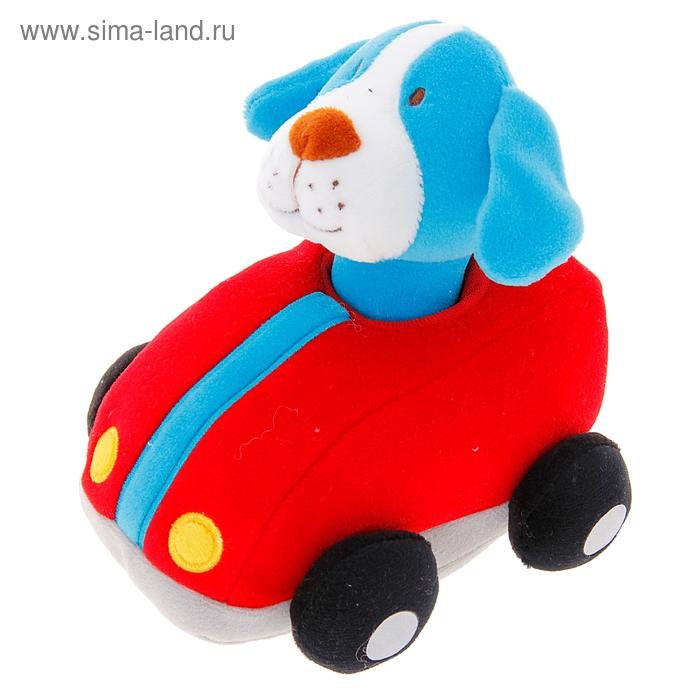 Машинка инерционная «Собачка - гонщик» мягкая