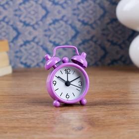 Будильник 'Классика', d=4 см, фиолетовый Ош