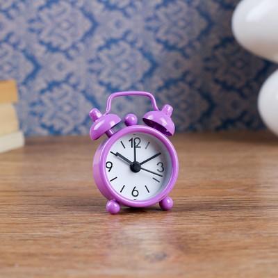 """Будильник """"Классика"""", d=4 см, фиолетовый"""