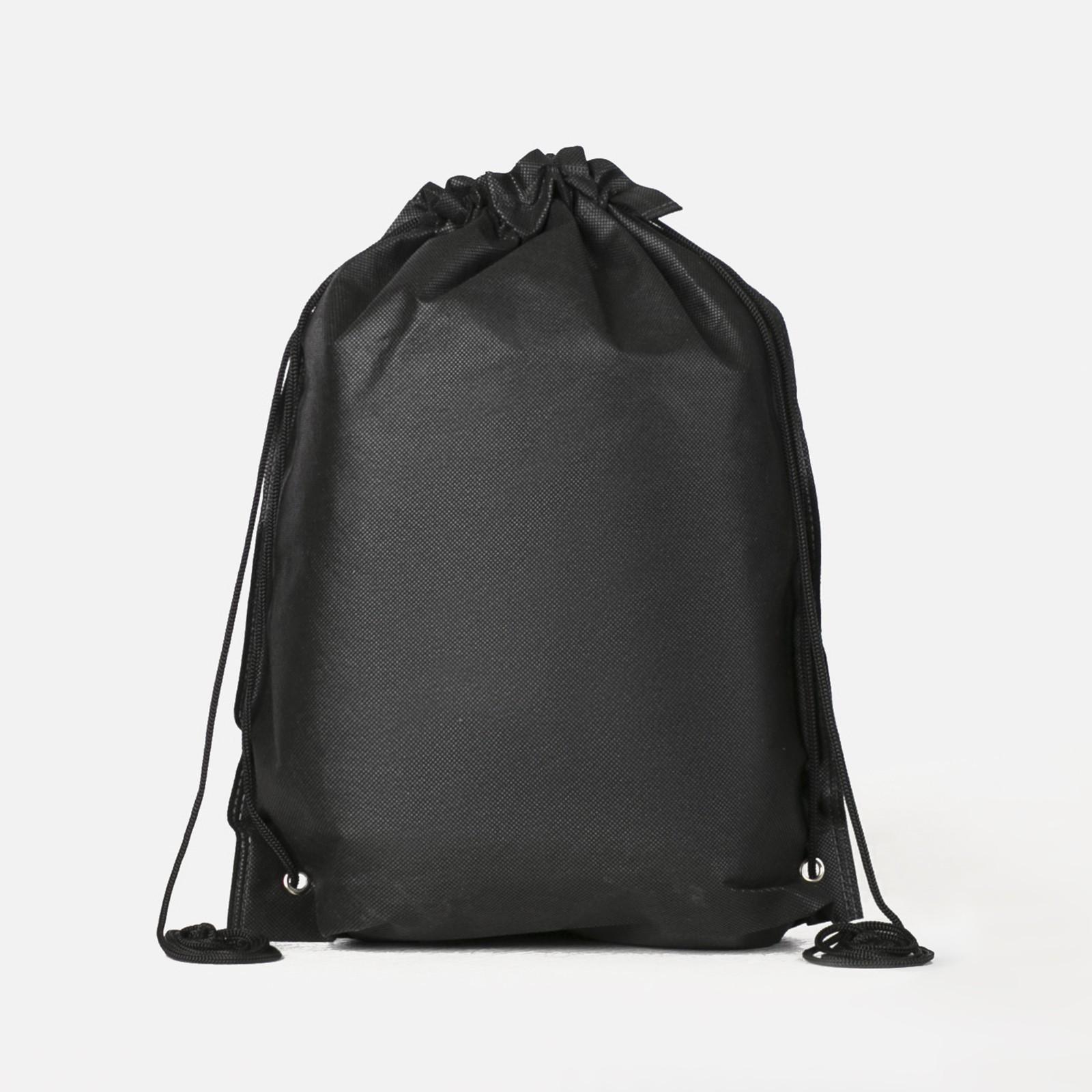 44669fd51f52 Мешок для обуви, отдел на шнурке, цвет чёрный (169313) - Купить по ...