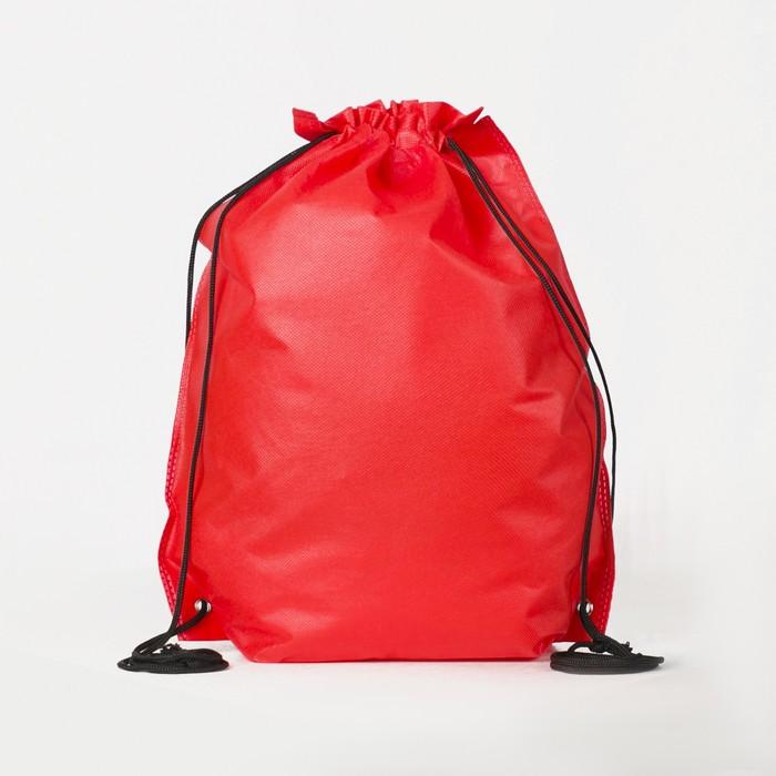 Мешок для обуви на стяжке шнурком, красный