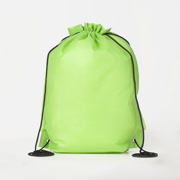 Мешок для обуви на стяжке шнурком, зелёный