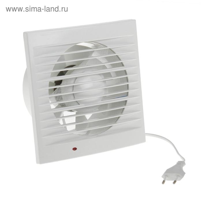 Вентилятор осевой d150 mm, (220 В, 15 Вт, 180 м3/ч, 34 Ра ) с сетевым кабелем