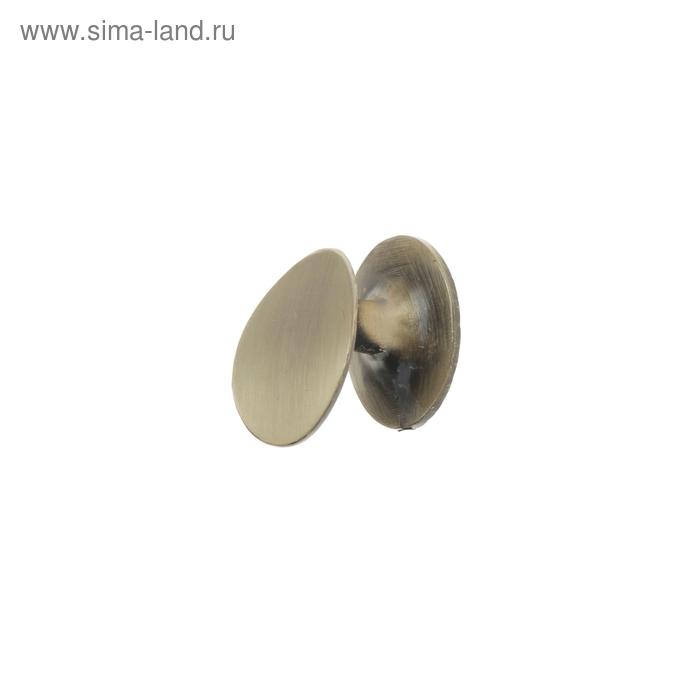 Ручка-кнопка мебельная (мод.506), цвет бронза