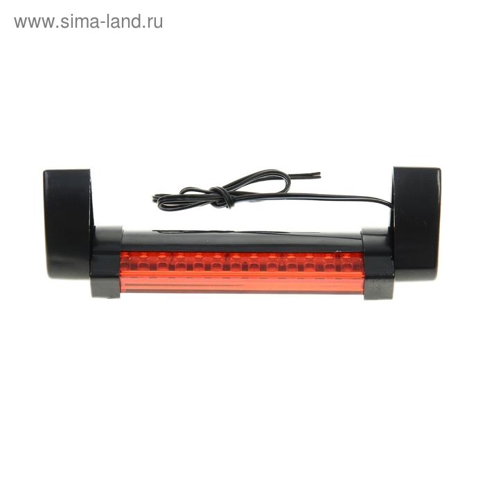 Стоп-сигнал, черный, на липкой ленте 3М, 12V