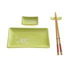 """Набор для суши """"Цветок на зеленом"""", 5 предметов"""
