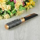Брашинг с прорезиненной ручкой, d=2.7/4см, цвет золотистый
