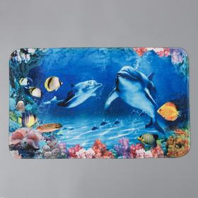 Коврик Доляна «Морской мир», 49×80 см
