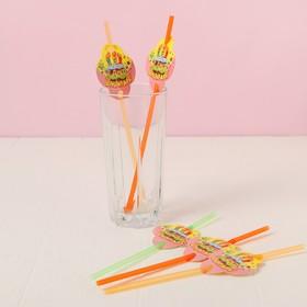 Трубочки для коктейля «С днём рождения», тортик, набор 6 шт. в Донецке