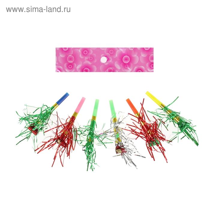 Язычок с мишурой, (набор 12 шт), цвета МИКС