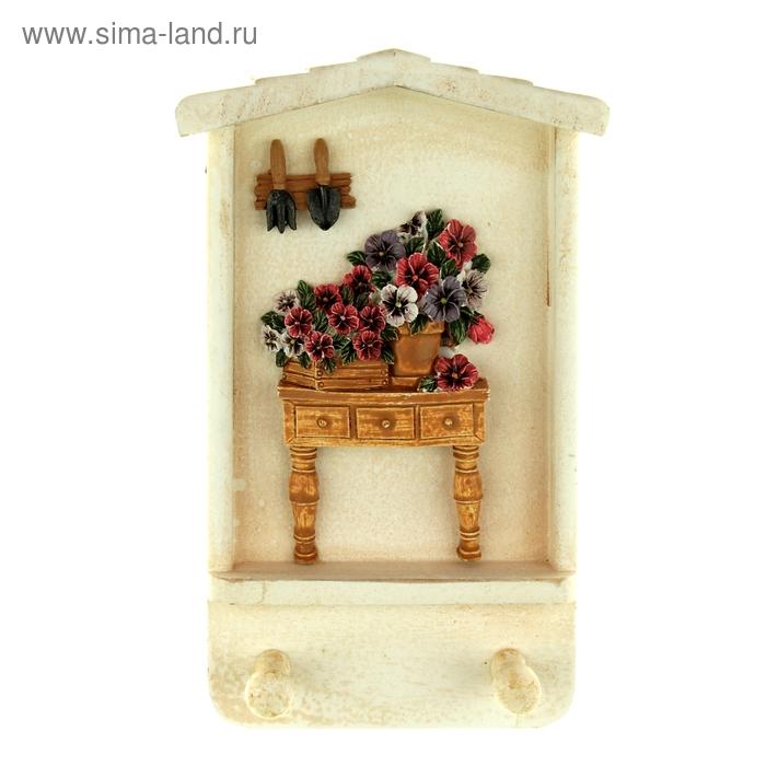 """Крючки декоративные """"Цветочный комодик"""""""