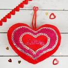 """Мягкая игрушка-присоска """"Сердце"""", в сердце надпись"""