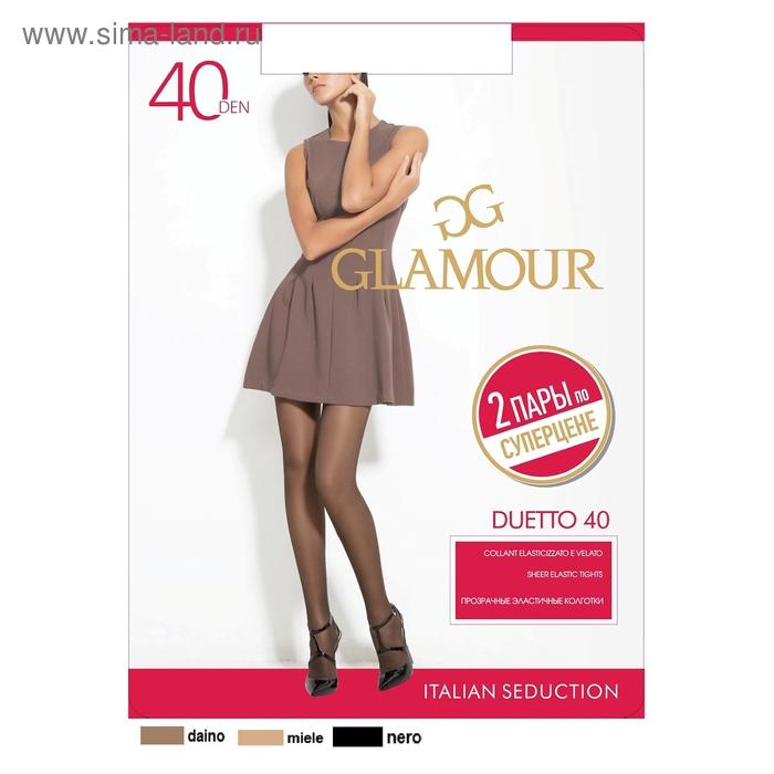 Колготки женские GLAMOUR Duetto 40 (miele, 5) 2 пары