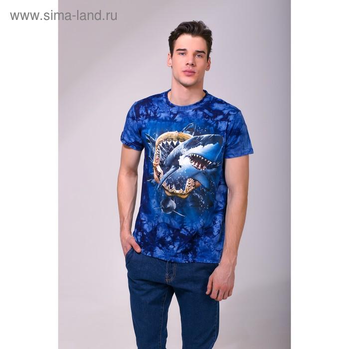 Футболка мужская Collorista 3D Shark pack, размер M (46), цвет синий