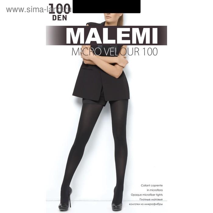 Колготки женские MALEMI Micro Velour 100 цвет чёрный (nero), р-р 3