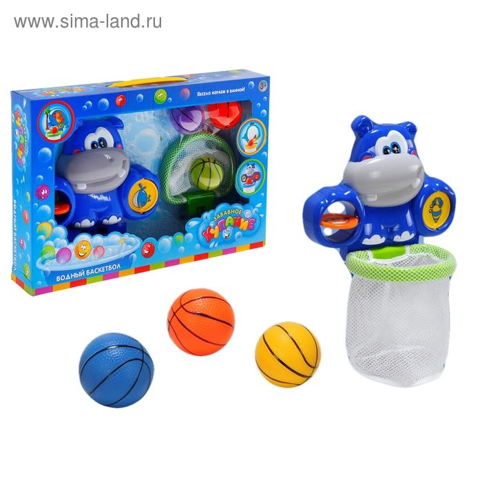 Игрушка для ванной «Водный баскетбол. Бегемотик»