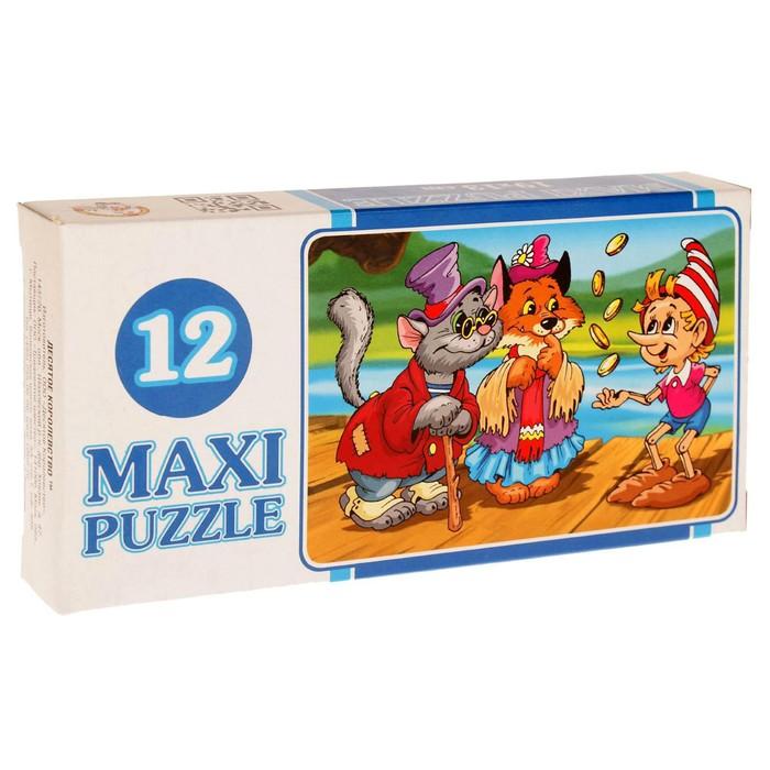 Макси-пазл «Сказки», 12 элементов, МИКС - фото 106534468