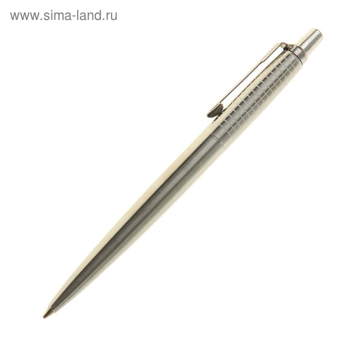 Ручка шариковая Parker Jotter Premium K172 Classic SS Chiseled Mblue, корпус золотой глянцевый, синие чернила (S0908840)