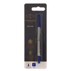 Стержень Parker для ручки-роллера, туба F(тонкий), синие чернила