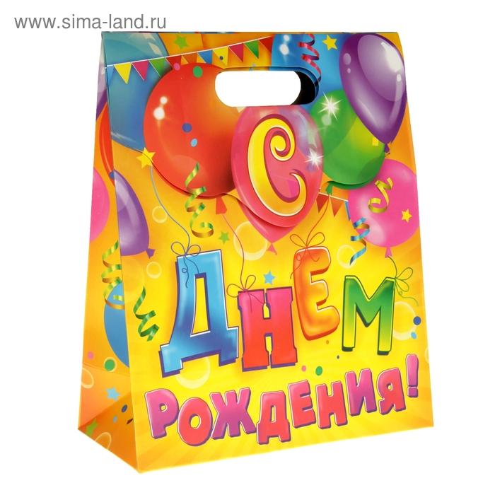 """Пакет с клапаном""""С Днем Рождения"""""""