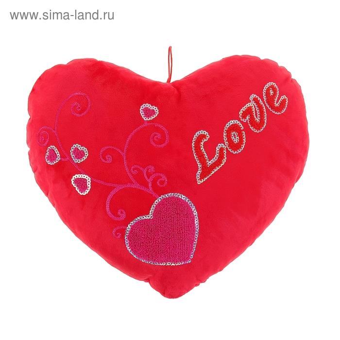 """Мягкая игрушка """"Сердце"""" с сердечками"""