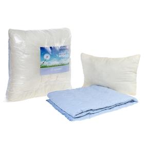 Комплект «Адамас»: 1,5сп одеяло, подушка 50х70см, микрофайбер, чехол однотон. МИКС Ош