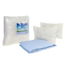Комплект «Адамас»: 2сп одеяло, подушки 50х70см, микрофайбер, чехол однотон. МИКС Ош